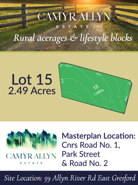 Lot 15 - Camyr Allyn Estate